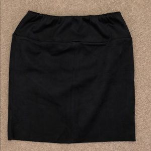 Dark grey suede Aritzia tight mini skirt